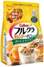 Bộ 2 Gói Ngũ cốc Calbee date mới 07.10.2018 Cam, Việt quất, Cacao, Hạt bí, yến mạch, lúa mạch…