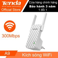 Bộ kích sóng Wi-Fi Tenda A9 tốc độ 300Mbps (Trắng) – Hãng Phân phối chính thức