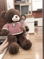 Gấu bông teddy siêu dễ thương khổ vải 1m2