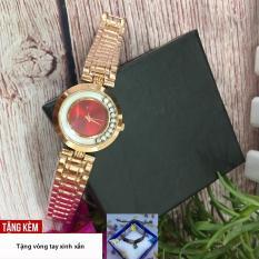 [TẶNG VÒNG TAY ĐÁ HOA] Đồng hồ dây thép dành cho phái nữ GUOU tạo điểm nhấn cho cô nàng thêm phần nữ tính G36-SSF2
