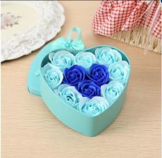 hoa hồng sáp hộp trái tim 11 bông (đỏ)