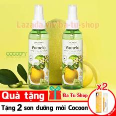 Bộ 2 Chai Xịt Tinh Dầu Bưởi Pomelo (Tặng 2 Son) Ngăn rụng tóc giúp tóc dài và dày hơn 130ml