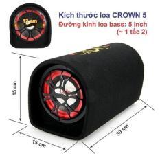 Loa Crown đế bẹt số 5 công suất lớn