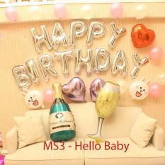 MS3 – Combo trang trí sinh nhật (Tặng kèm bơm bóng + băng dính + ruy băng)