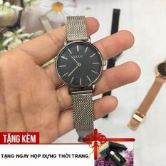 [RẺ ĐỪNG HỎI- TẶNG KÈM HỘP CAO CÂP] Đồng hồ nữ GUOU 2 kim chạy dây thép nhuyễn sang trọng G43-61
