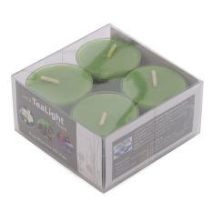 Hộp 8 nến tealight thơm đế nhựa Miss Candle NQM2059 (Xanh lá, hương trà xanh)
