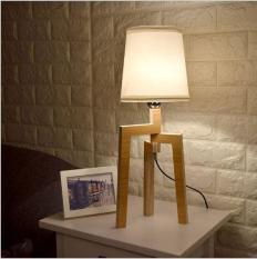 Đèn phòng ngủ đẹp mắt làm từ gỗ (kèm bóng LED chống lóa)