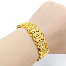 Lắc tay,vòng tay nam nữ thời trang mạ vàng 24k đúc hoa văn sao 4 cánh hàn quốc