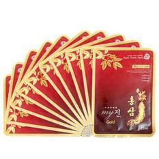 10 Gói đắp mặt hồng sâm chống lão và hóa phục hồi làn da Cao cấp Hàn Quốc