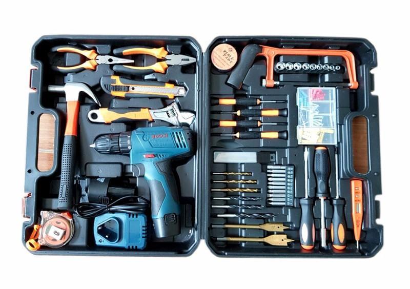 Máy Khoan Bosch- Máy khoan pin Bosch 12v kèm đầy đủ đồ nghề