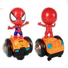 Đồ chơi người nhện biết đi, DO CHOI NGUOI NHEN, Siderman có đèn, đồ chơi sider man, đồ chơi người nhện có đèn nhạc, Do choi nguoi nhen (kèm pin)