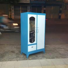 Tủ quần áo sắt 1m6 màu xanh dương