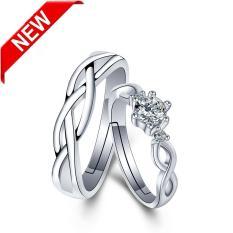 Nhẫn đôi tình yêu cặp đôi, nhẫn đôi rẻ đẹp (Bạc)