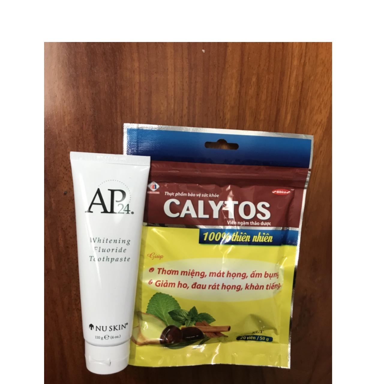 Kem đánh răng trắng sáng NUSKIN AP24 hàng xách tay chính hãng tặng kèm kẹo ngậm thảo dược
