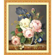 Tranh đính đá 5D – Bình Hoa hồng