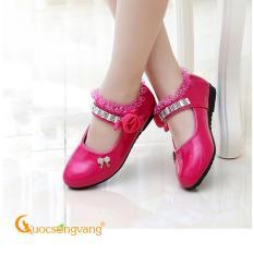 Giày đính đá bé gái giày bé gái thêu ren GLG066