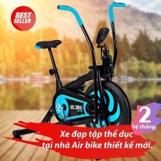 BG – Xe đạp tập thể dục Air bike Mẫu Mới 2018 (Màu xanh ngọc)