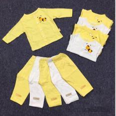 Bộ quần áo sơ sinh Lullaby cài giữa tay dài mỏng bé trai/bé gái