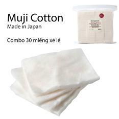 Combo Bông Muji Vape cotton nguyên chất 15 miếng & 30 miếng (Chiết lẻ)
