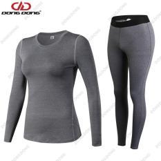 Quần áo thể thao NỮ dài tay 2in1 – 19D20, quần áo tập Yoga Gym siêu nhẹ chất vải cao cấp – DONGDONG