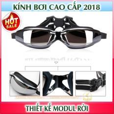 Bộ kính bơi cao cấp mắt kính tráng gương, chống tia UV – Thiết kế thể thao, hiện đại