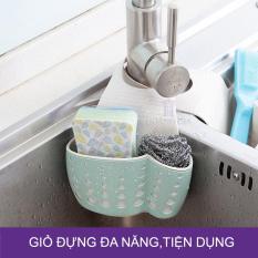 [Hàng cao cấp] Giỏ đựng giỏ treo giẻ rửa bát, rửa chén có quai treo tiện dụng – JY189, màu Xanh ngọc