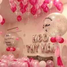 Combo 20 bóng nhũ lung linh sắc màu size 40cm trang trí sinh nhật, sự kiện, phòng tiệc, đám cưới, chụp ảnh
