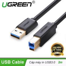 Dây máy in USB 3.0 đầu mạ vàng dài 2m UGREEN 10372 – Hãng phân phối chính thức