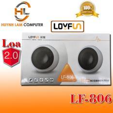 Loa vi tính 2.0 Loyfun LF-806 (trắng) – Loa máy tính 2.0