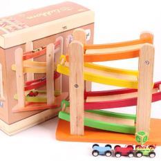 Đường trượt xe tốc độ – Đồ chơi gỗ cho bé trai hấp dẫn nhất
