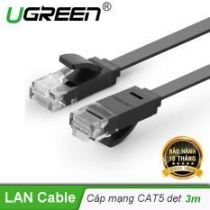 Dây mạng 2 đầu đúc Cat6 UTP dây dẹt dài 3m UGREEN NW104 11237 – Hãng phân phối chính thức