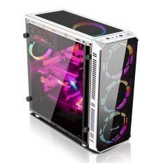 Vỏ case Máy tính Vitra Hera S9 White – 1 Mặt kính trước Không Fan