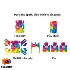 Bộ decal DJI (Spark + Remote + 3 pin) SP08