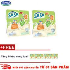 Thùng 48 hộp sữa chua ăn Susu có đường – Tặng 6 hộp cùng loại