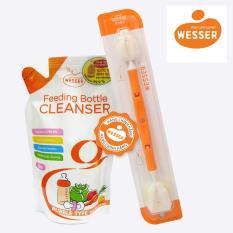 Combo Nước rửa bình sữa gói+ Dụng cụ vệ sinh bình sữa đa năng