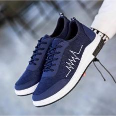 Giày Sneaker Nam Dáng Thể Thao ( Xanh)