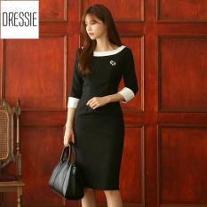 [HÌNH THẬT] Váy Đầm Ôm Body Đẹp Cao Cấp Thời Trang Công Sở Dạo Phố Dự Tiệc DRESSIE – DB0167 (Đen Trắng)