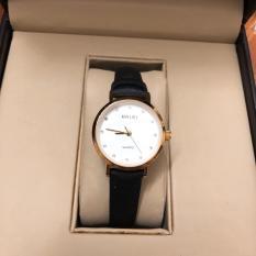 Đồng hồ nam nữ dây da Halei mặt tròn thời thượng
