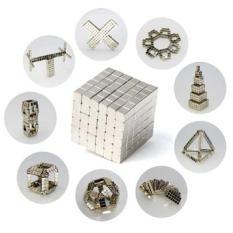 Bộ đồ chơi xếp hình 216 viên nam châm thông minh vuông (Bạc)