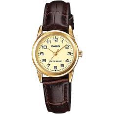 Đồng hồ nữ dây da Casio LTP-V001GL-9BUDF