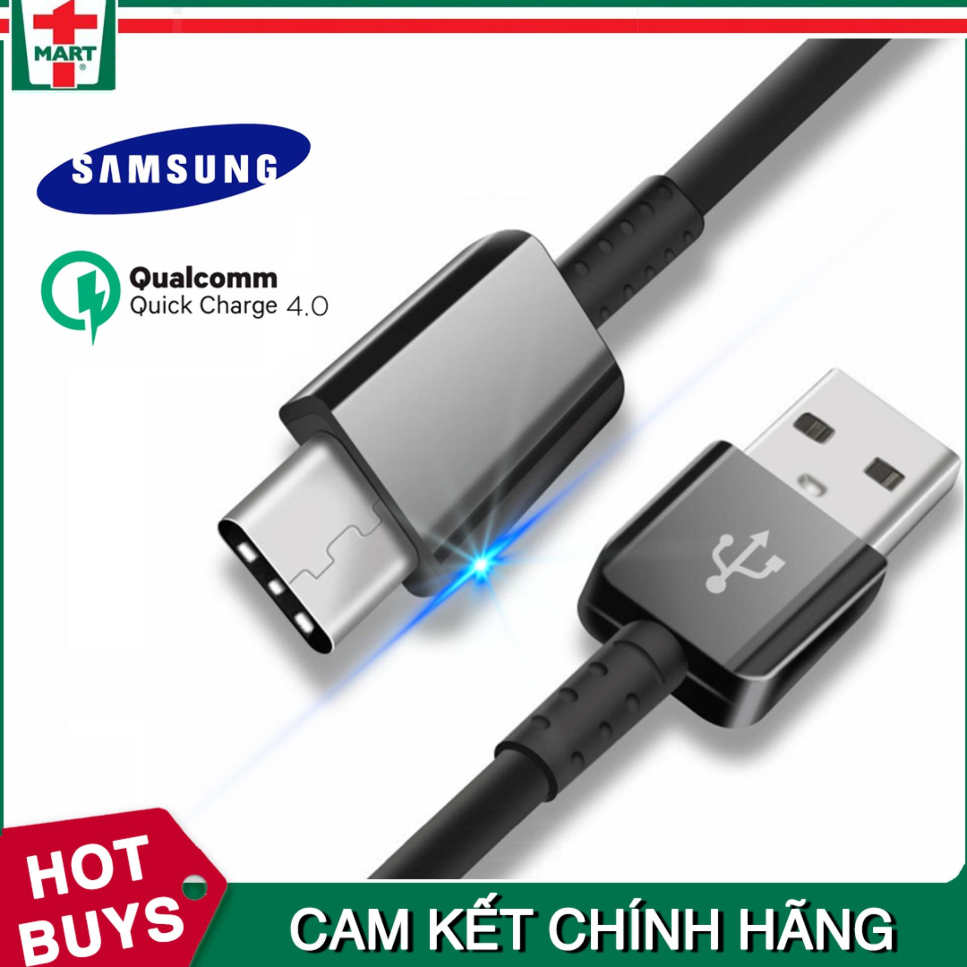 Mua [DÀI 2M] Dây sạc USB Type C hỗ trợ sạc nhanh Qualcomm Quick Charge cho Samsung Galaxy Note 8/ S8/ S8 Plus 9/ 9 Plus và các máy có cổng Type-C – Hàng Samsung Việt Nam ở đâu tốt?
