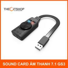 Sound card âm thanh 7.1 cho máy tính PC Plextone GS3 – chuyên game – phim