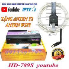 Đầu thu truyền hình số mặt đất DVB T2 Hùng Việt HD 789S xem youtube tặng anten wifi tặng anten và dây 15m xem Tivi