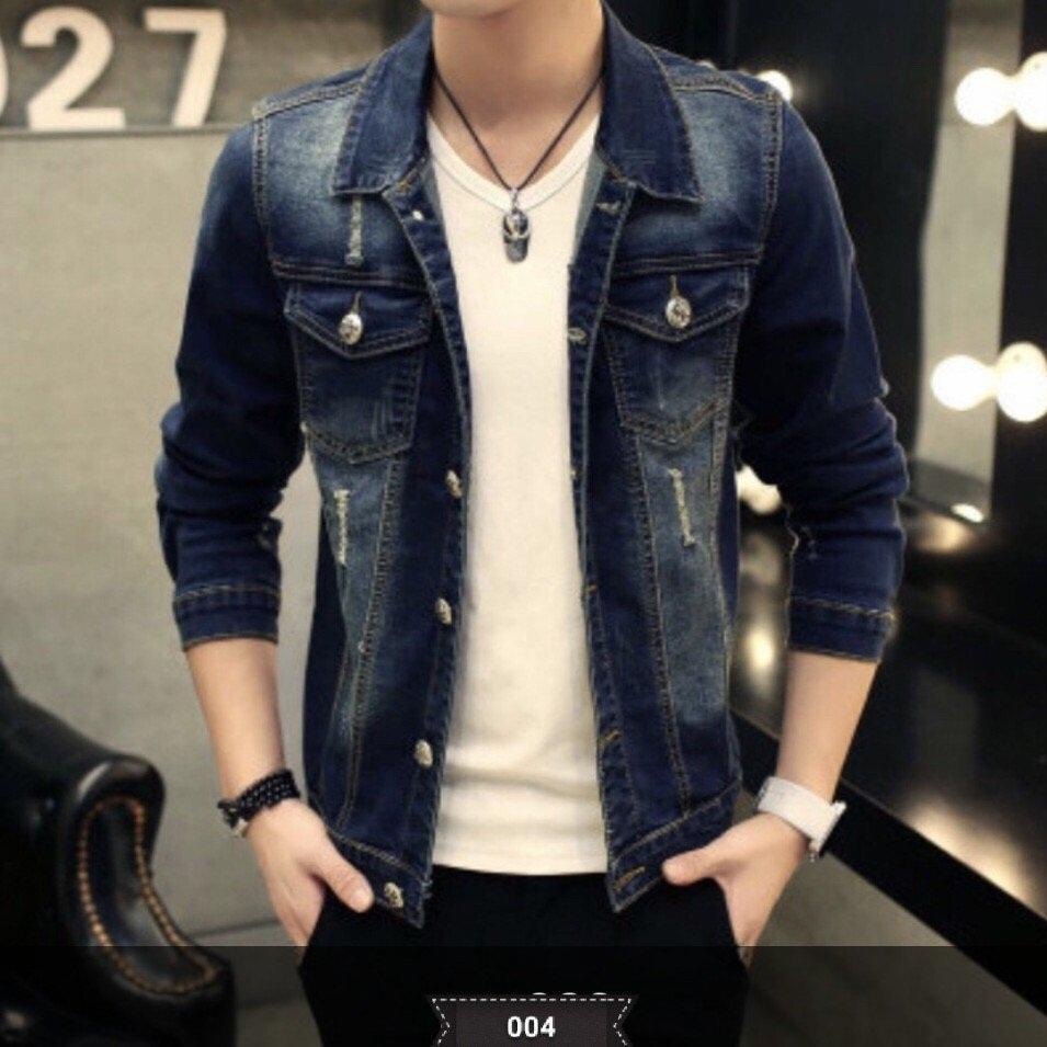 Áo khoác jean nam thời trang lazada ms004