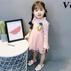 Váy hoạ tiết trái dứa cho bé gái