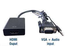 Đầu chuyển đổi HDMI to VGA + Audio