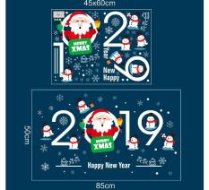 Decal dán tường Noel, giáng sinh, Christmas Happy new year 2019 – XH6250