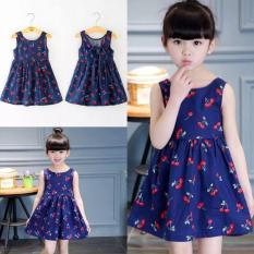 Váy họa tiết quả cherry cực yêu dành cho các công chúa nhỏ từ 10 đến 30kg