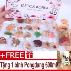 Set Detox liệu trình 30 ngày (30 gói) giảm cân – Tặng bình Pongdang 600ml