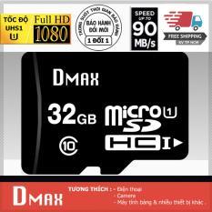 Thẻ nhớ 32GB tốc độ cao UHS1 U1, up to 90MB/s Dmax Micro SDHC class 10 – Bảo Hành 5 năm (PT)